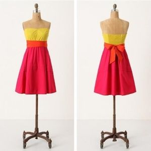 Anthropologie Maeve Parading Hues Colorblock Dress